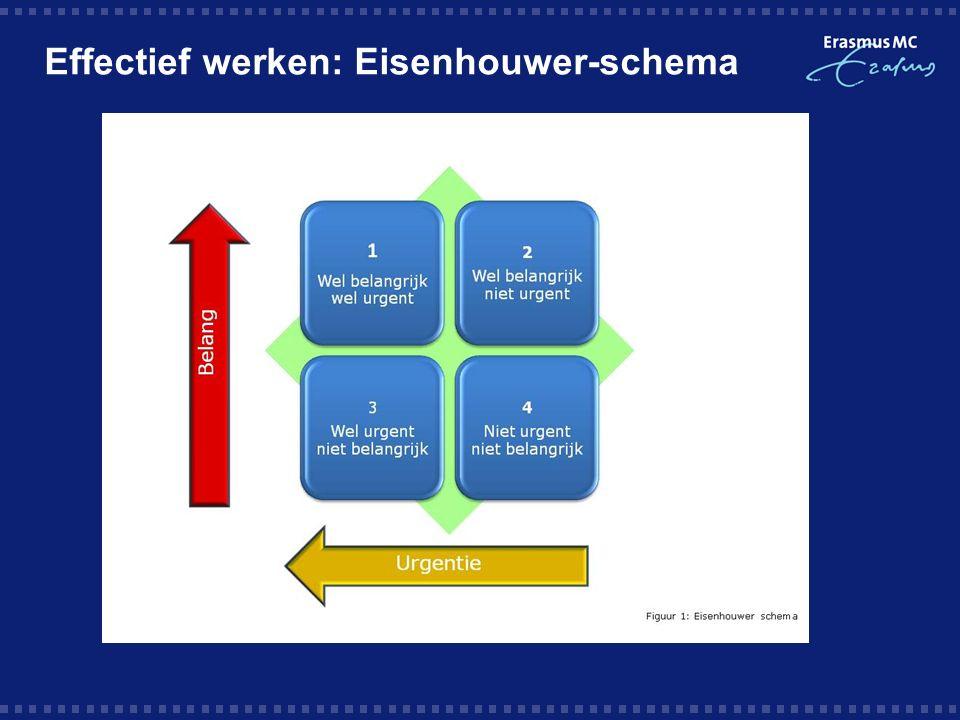 Effectief werken: Eisenhouwer-schema