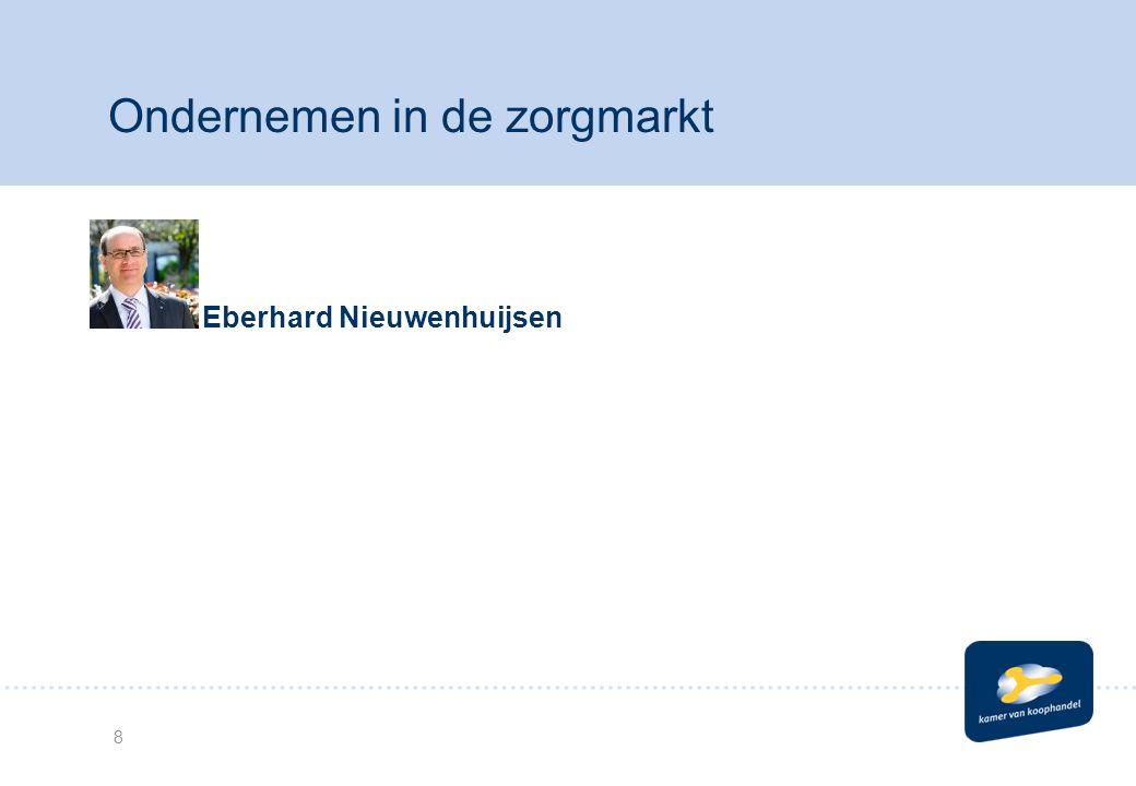 Eberhard Nieuwenhuijsen 8 Ondernemen in de zorgmarkt