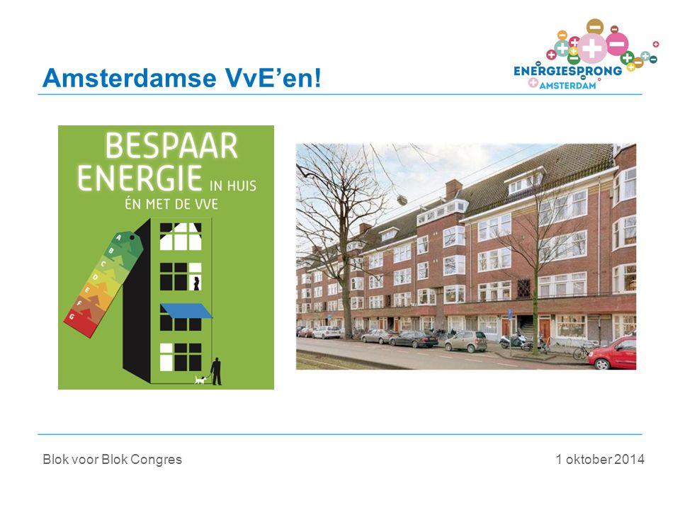 Blok voor Blok Congres 1 oktober 2014 Amsterdamse VvE'en!