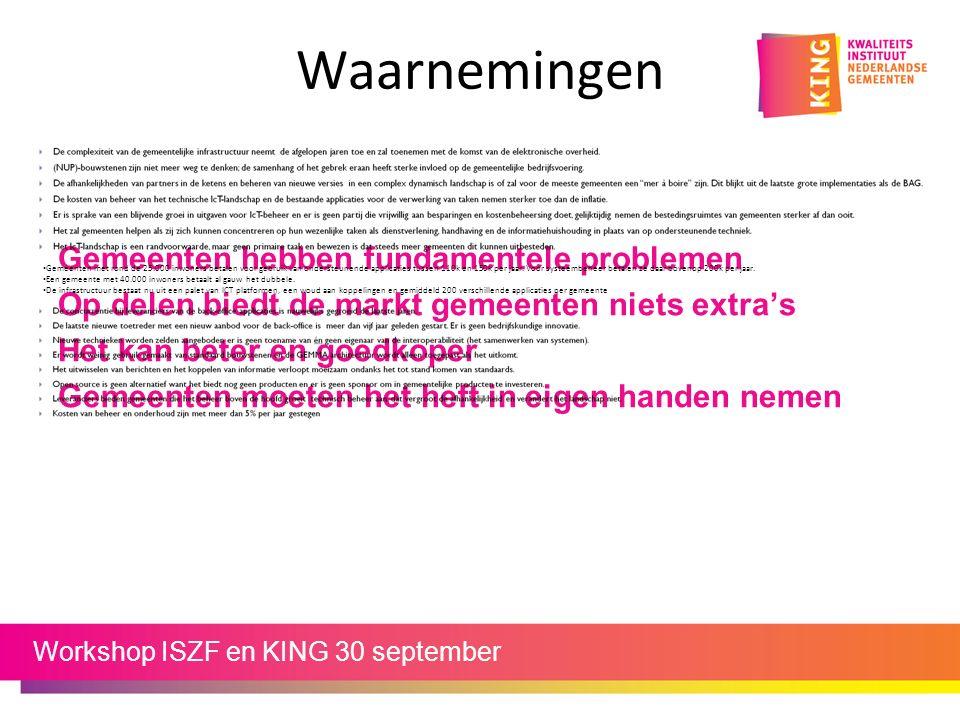 KING samen met… ISZF Drechtsteden G4 VGS VNG Equalit D!mpact Dataland mGBA ……..