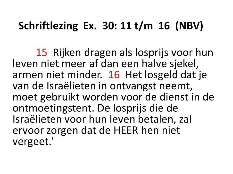 Schriftlezing Ex.