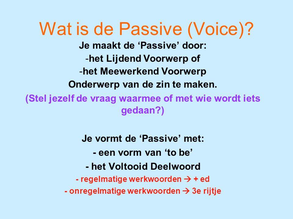 Wat is de Passive (Voice)?