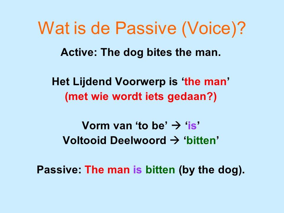 De Passive (Voice) The paper Onderstaande staat in de tegenwoordige tijd: (Every Saturday) father reads the paper.