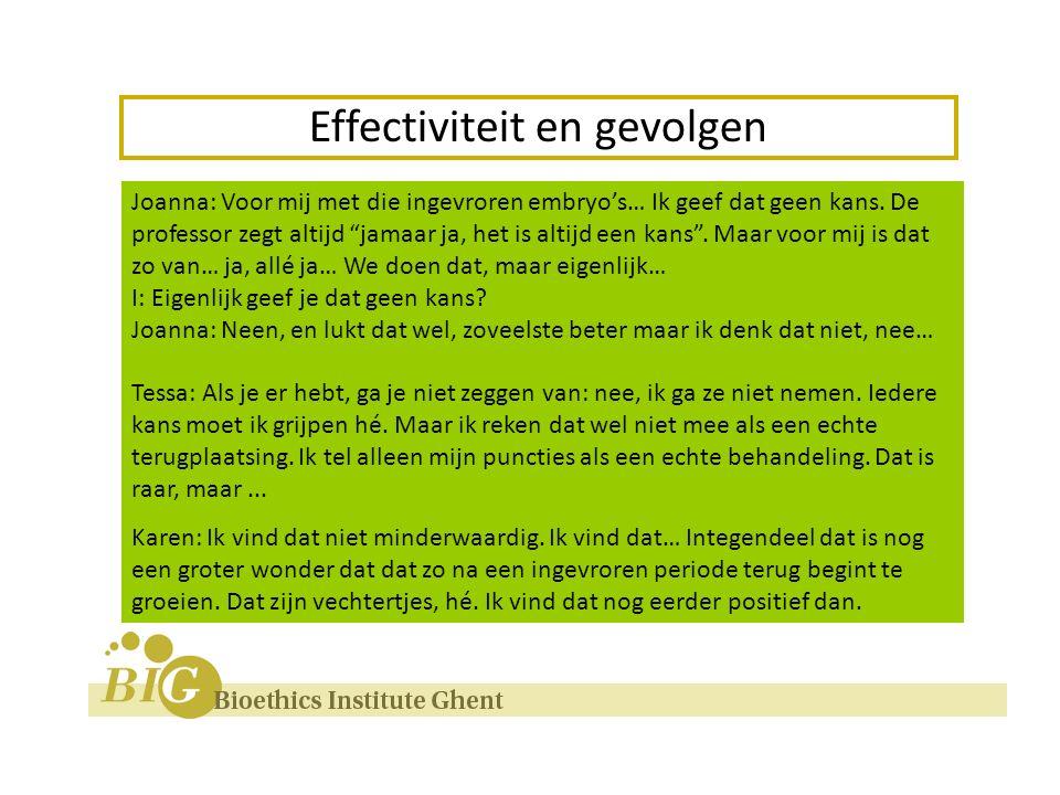 Effectiviteit en gevolgen Twijfels over effectiviteit .