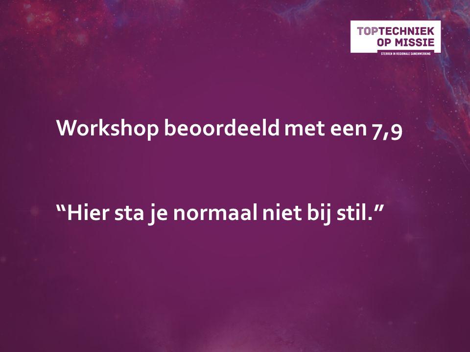 Workshop beoordeeld met een 7,9 Hier sta je normaal niet bij stil.