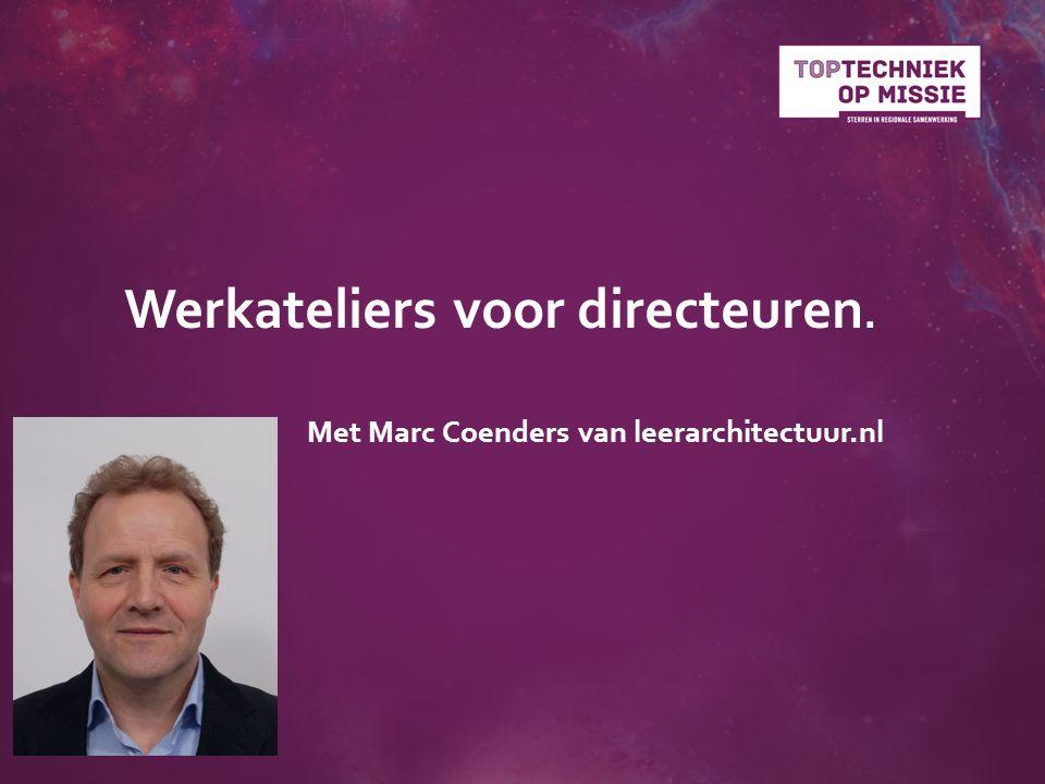 Werkateliers voor directeuren. Met Marc Coenders van leerarchitectuur.nl