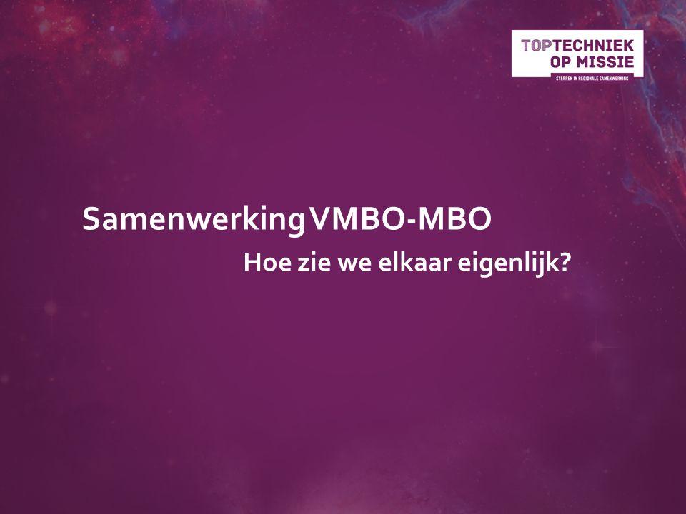 Samenwerking VMBO-MBO Hoe zie we elkaar eigenlijk