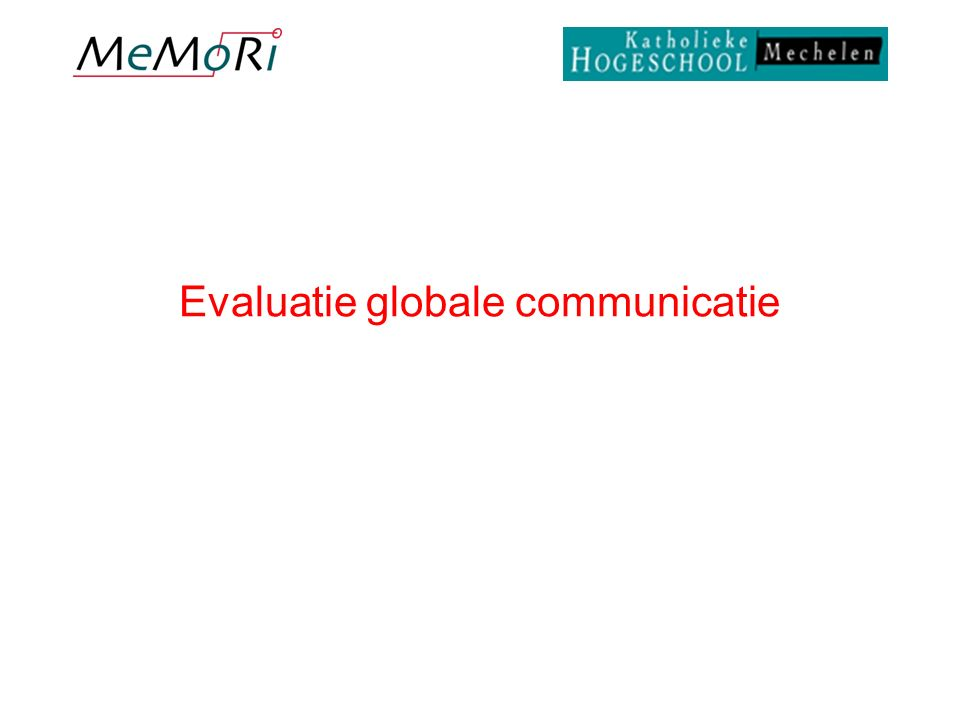 Evaluatie globale communicatie