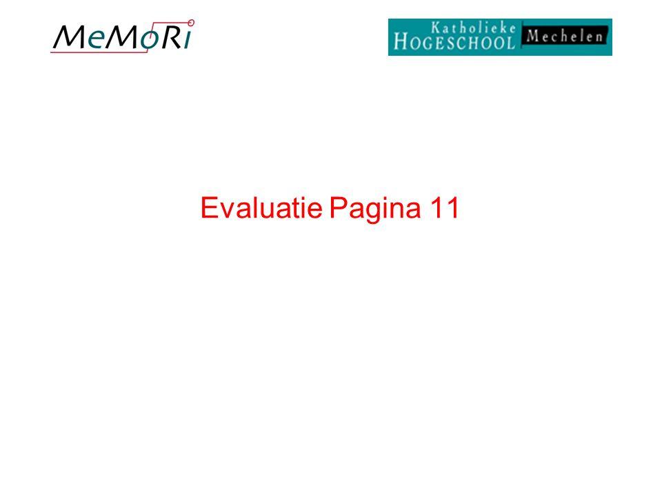 Evaluatie Pagina 11
