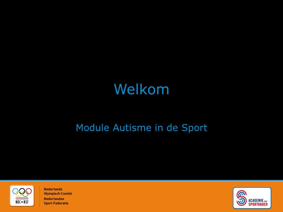 Welkom Module Autisme in de Sport