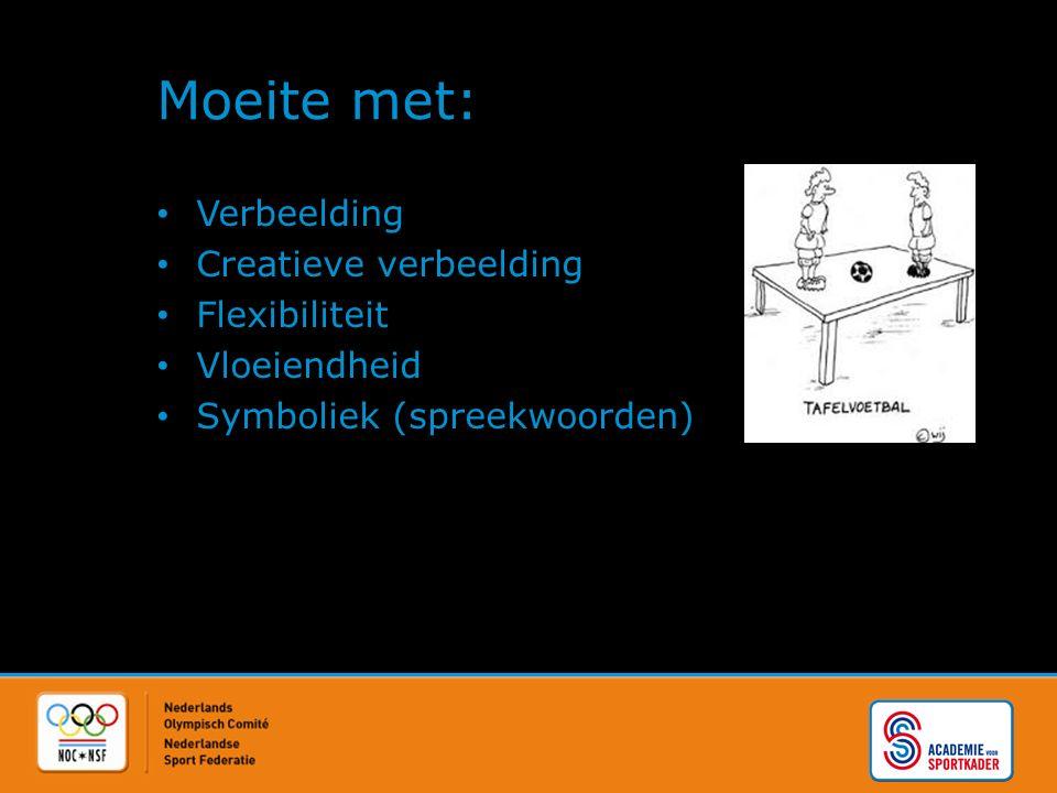 Moeite met: Verbeelding Creatieve verbeelding Flexibiliteit Vloeiendheid Symboliek (spreekwoorden)