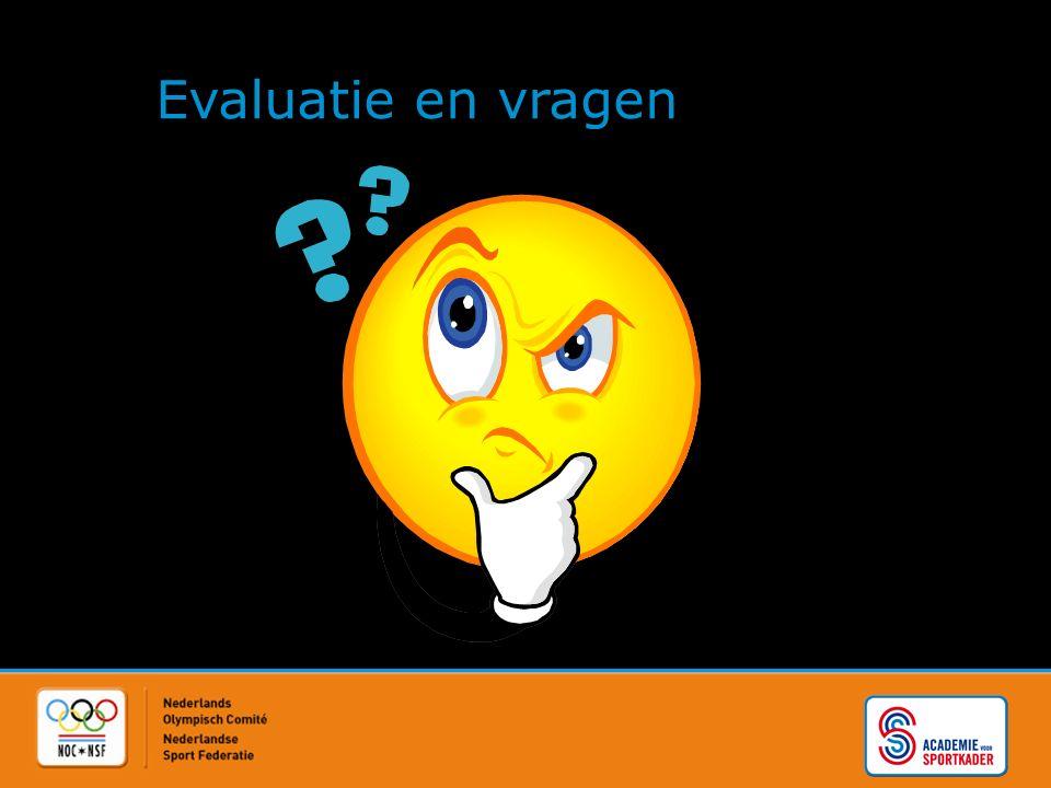 Evaluatie en vragen