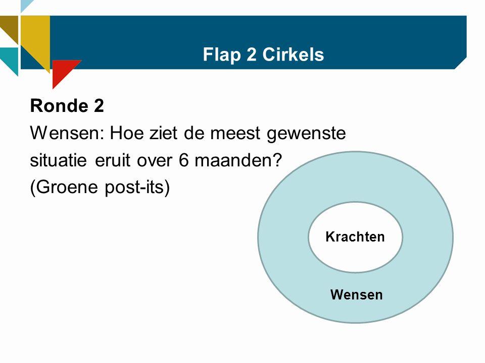 Flap 2 Cirkels Ronde 2 Wensen: Hoe ziet de meest gewenste situatie eruit over 6 maanden.