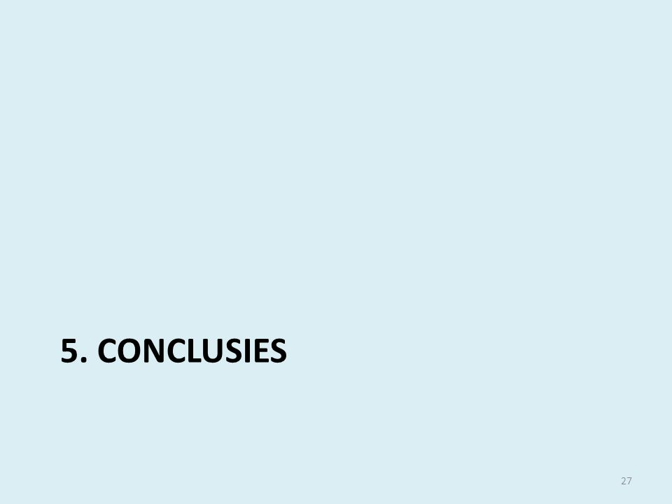 5. CONCLUSIES 27