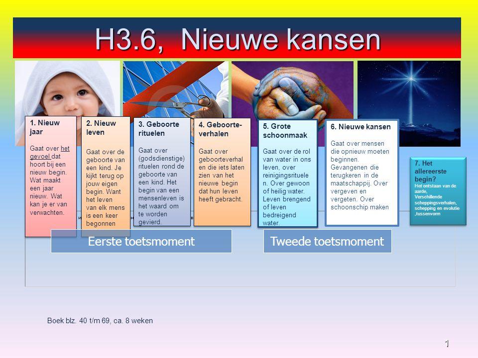 H3.6, Nieuwe kansen 1 Boek blz. 40 t/m 69, ca. 8 weken 4.