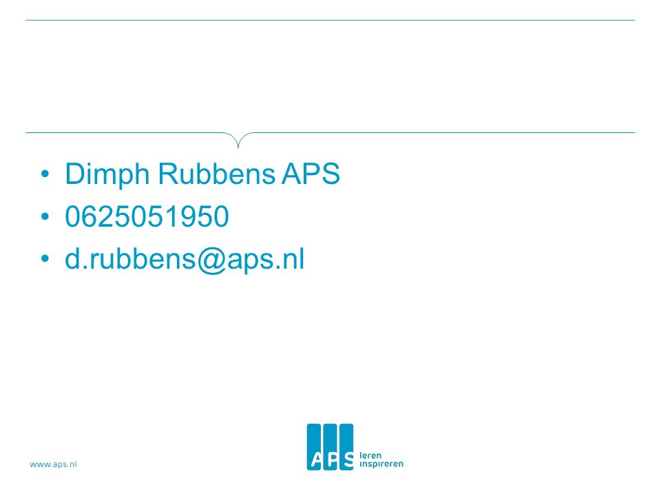 Dimph Rubbens APS 0625051950 d.rubbens@aps.nl