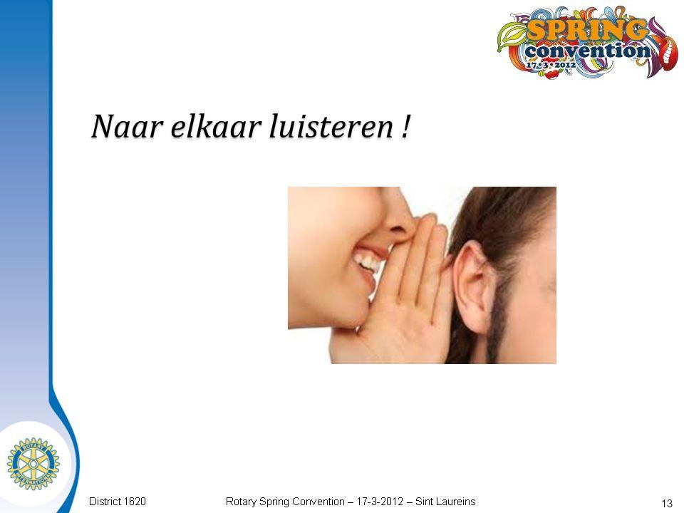 Naar elkaar luisteren ! 13