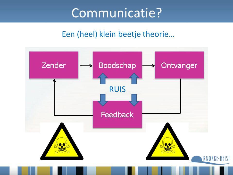 Communicatie? Een (heel) klein beetje theorie… RUIS