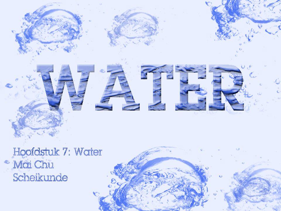 Water is bij kamertemperatuur een vloeistof H2O(l).