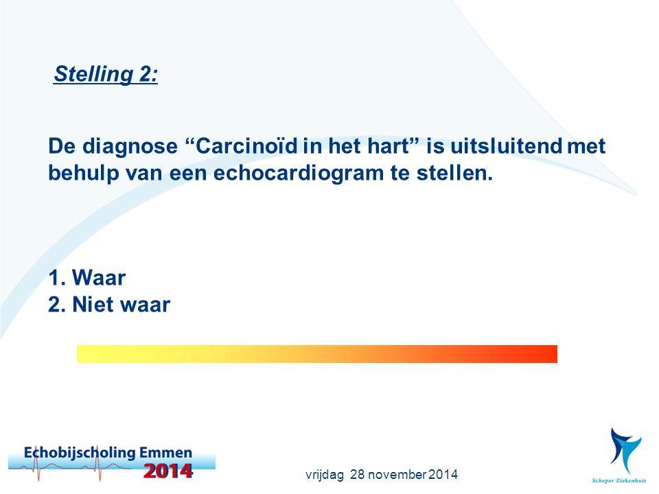 vrijdag 28 november 2014 Stelling 3: 85 % van de CVA's zijn ischemische CVA's en hiervan is 20-30% cardiaal veroorzaakt.