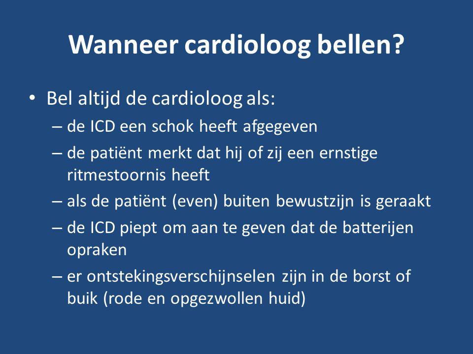 Wanneer cardioloog bellen.