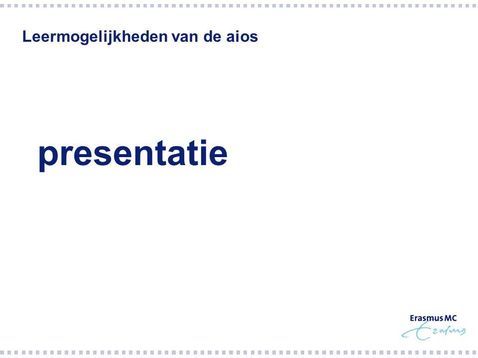 Leermogelijkheden van de aios  presentatie