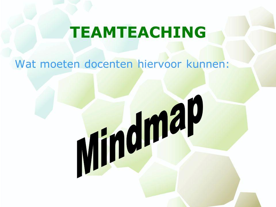 TEAMTEACHING Wat moeten docenten hiervoor kunnen: