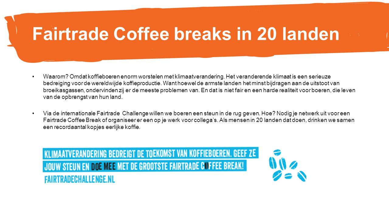 Coffee break in jouw gemeente..