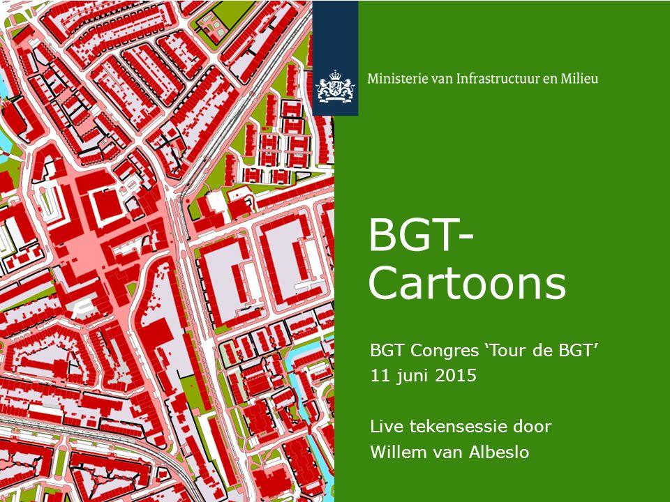 BGT- Cartoons BGT Congres 'Tour de BGT' 11 juni 2015 Live tekensessie door Willem van Albeslo