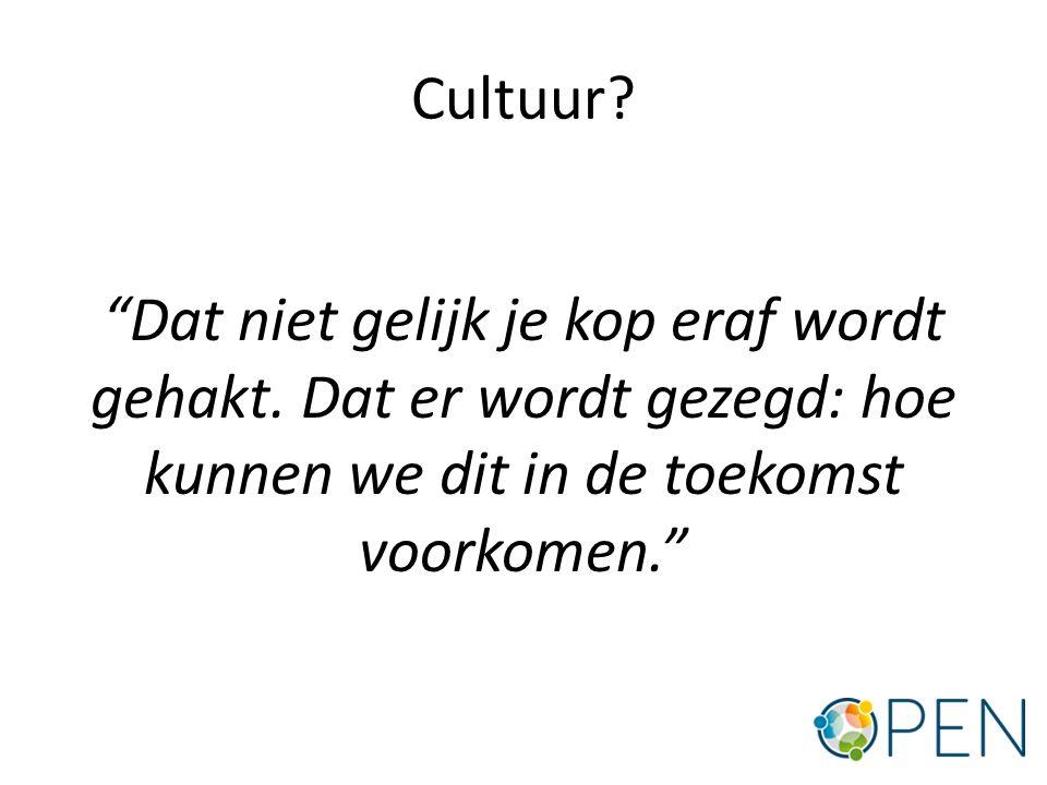 Cultuur. Dat niet gelijk je kop eraf wordt gehakt.