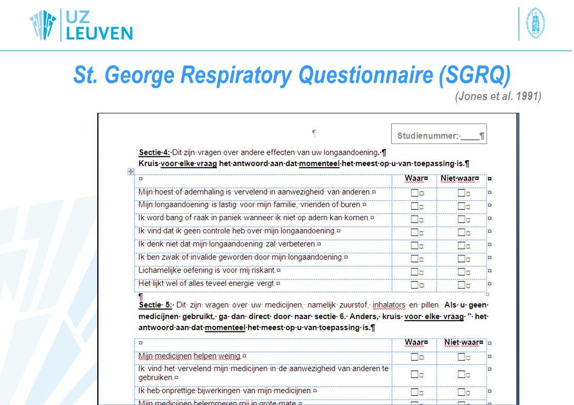 St. George Respiratory Questionnaire (SGRQ) (Jones et al. 1991)