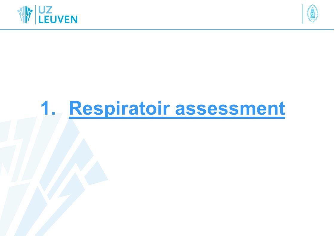 Respiratoir assessment Wat.