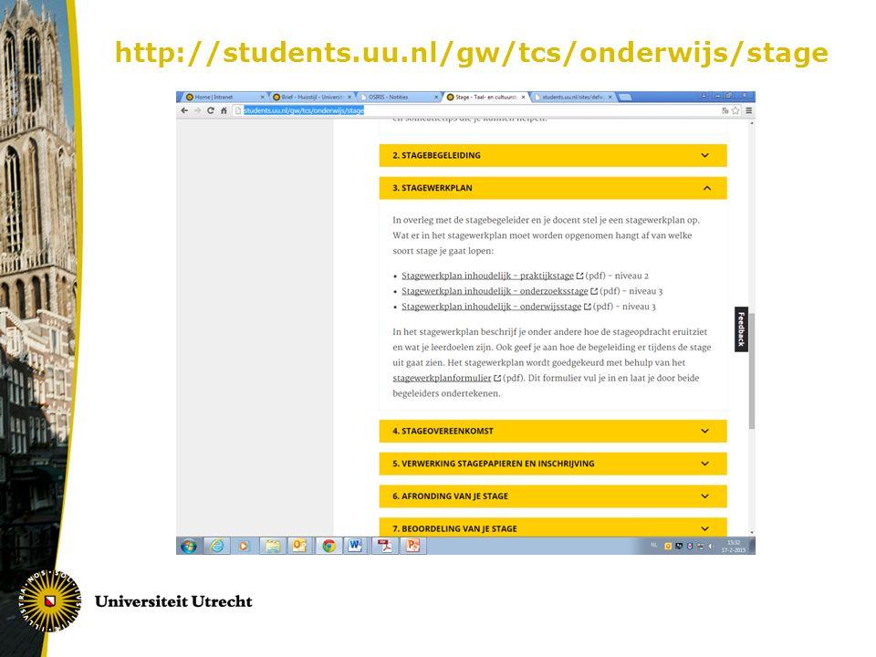 http://students.uu.nl/gw/tcs/onderwijs/stage