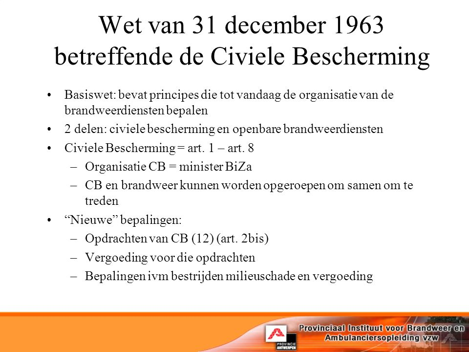 Uiteindelijk pragmatisch vertrekpunt: Nederlandse normtijd + 4' = 12 minuten –12' ook grens voor redden van levens volgens Duitse modellen Lessons learned: –Operationele organisatie ipv territoriale organisatie Snelle hulp Adequate hulp –'Tijd halen' = interveniëren op de deeltijden