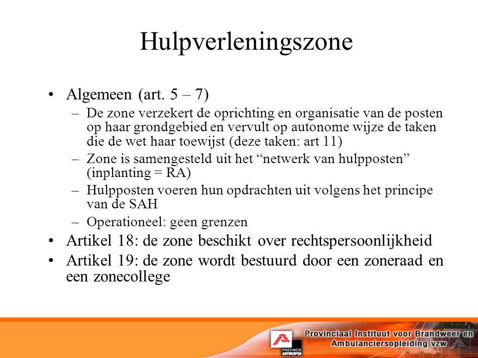 Hulpverleningszone Algemeen (art.