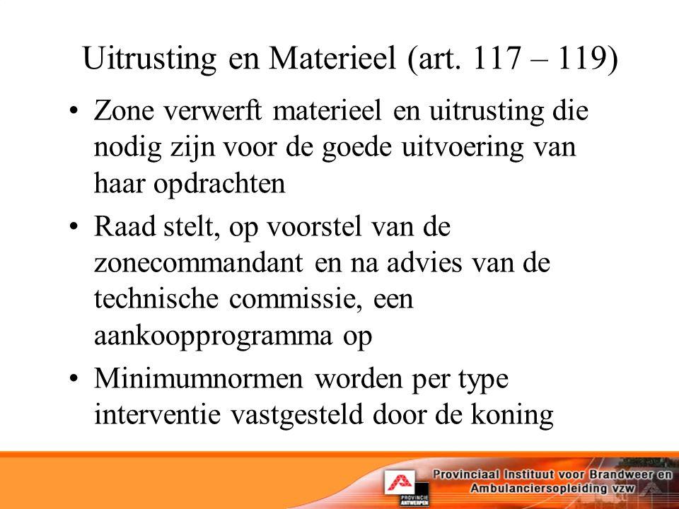 Uitrusting en Materieel (art.