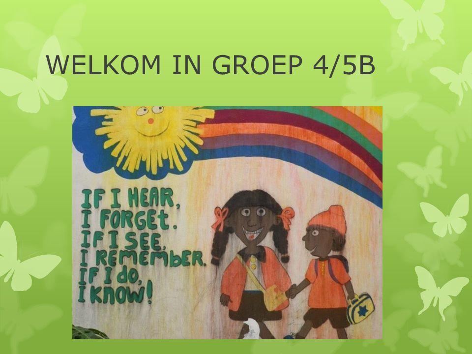 WELKOM IN GROEP 4/5B