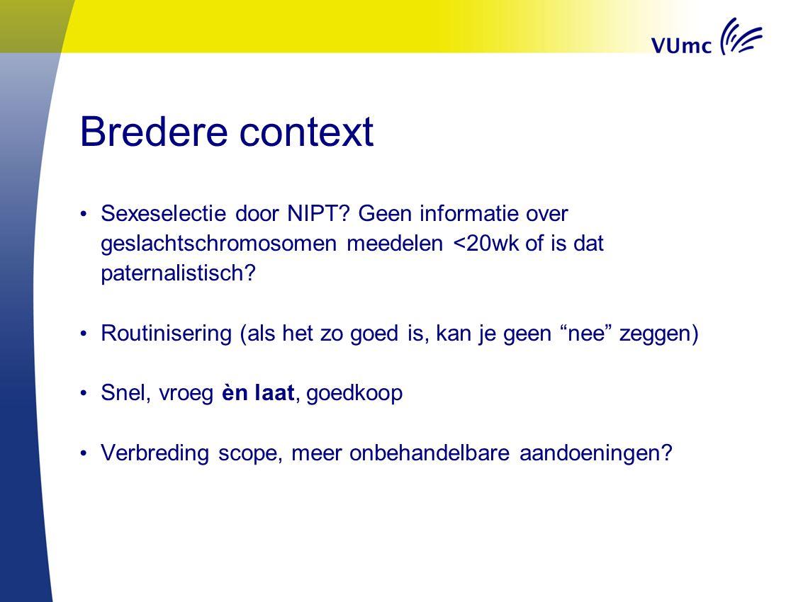 Bredere context Sexeselectie door NIPT.