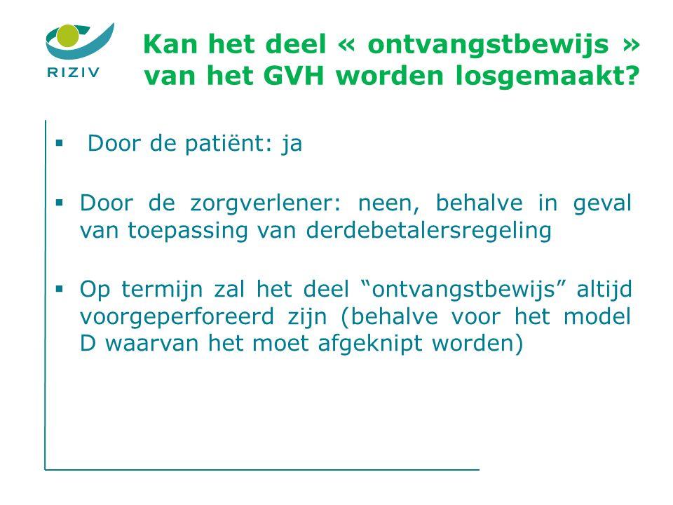 Kan het deel « ontvangstbewijs » van het GVH worden losgemaakt.