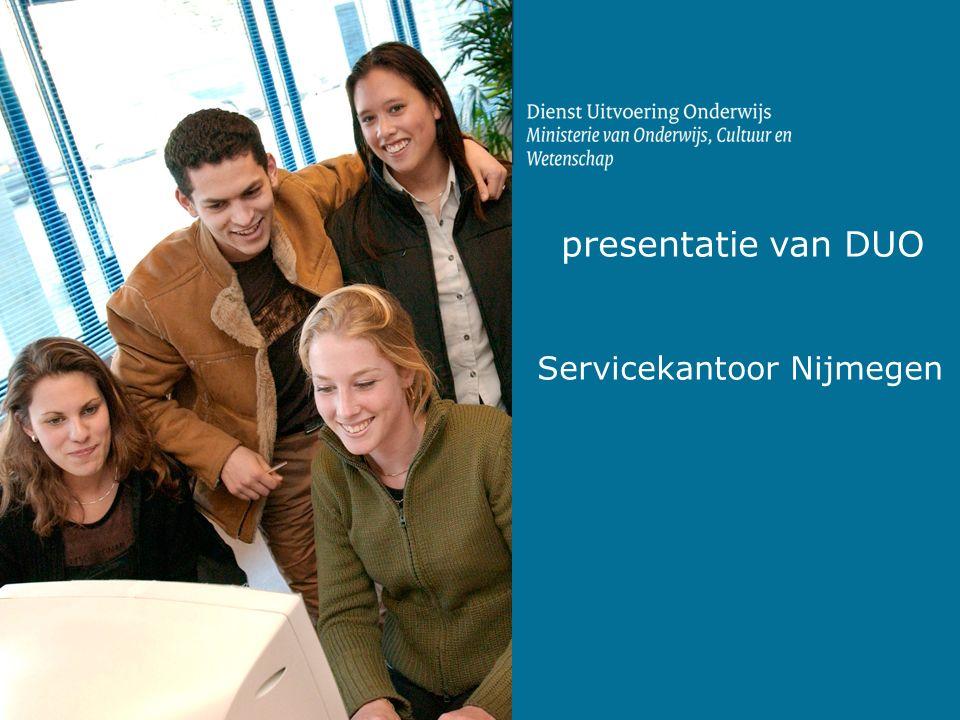 presentatie van DUO Servicekantoor Nijmegen