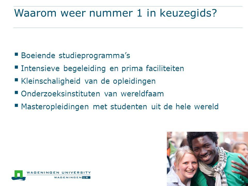 Wageningen University Prestatiebeurs Prestatiebeurs = voorlopige lening Wordt gift als diploma binnen 10 jaar Hoe lang prestatiebeurs.