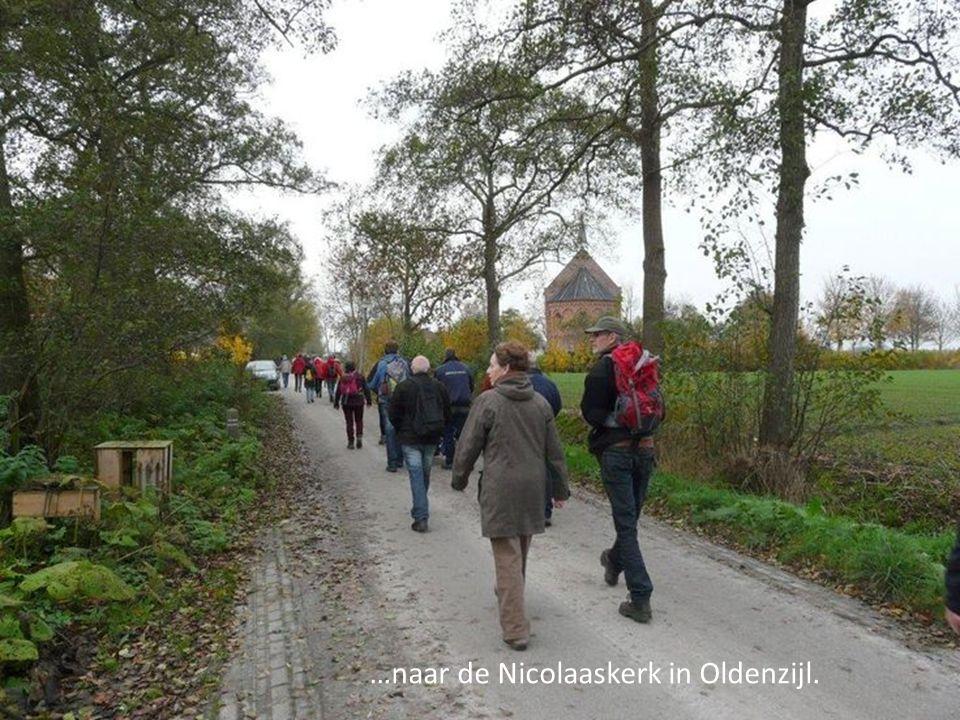 …naar de Nicolaaskerk in Oldenzijl.