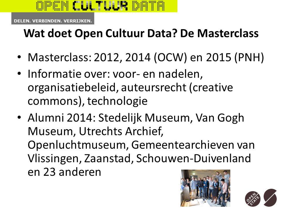 Wat doet Open Cultuur Data.