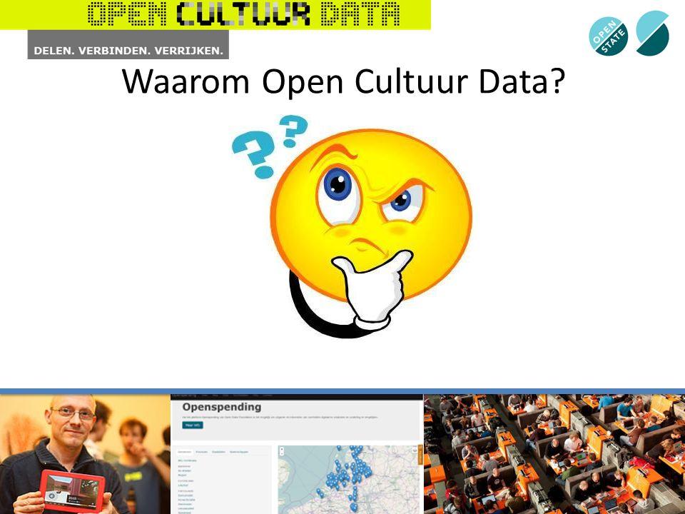 Waarom Open Cultuur Data