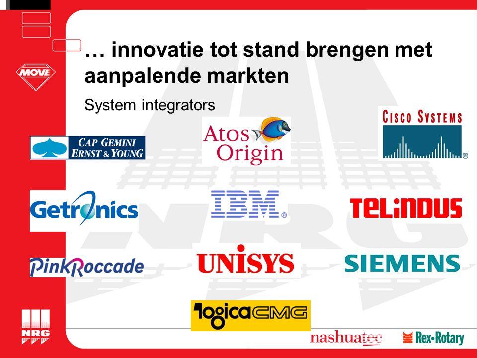 … innovatie tot stand brengen met aanpalende markten System integrators