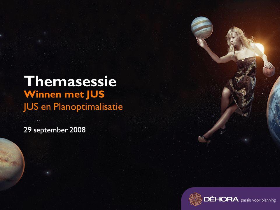 Themasessie Winnen met JUS JUS en Planoptimalisatie 29 september 2008