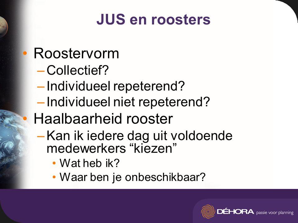 JUS en roosters Roostervorm –Collectief. –Individueel repeterend.