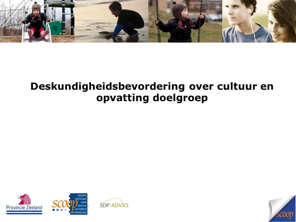 Deskundigheidsbevordering over cultuur en opvatting doelgroep
