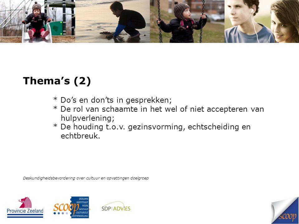 Einde presentatie Deskundigheidsbevordering over cultuur en opvattingen doelgroep
