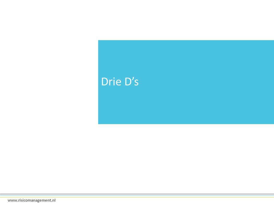 5 www.risicomanagement.nl Drie D's